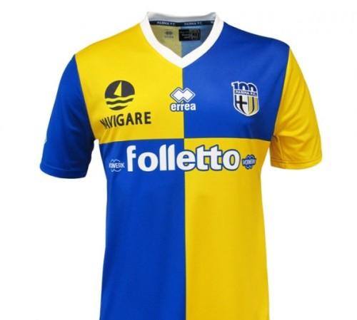 maglia parma 2013 2014 trasferta  seconda maglia divisa maglietta